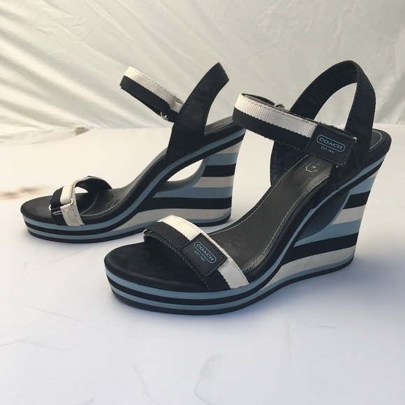 Coach Shoes - Coach Mylar Wedge Sandal - Size 7.5M